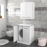 Öykü Çamaşır Makinesi Dolabı Beyaz
