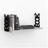 Decormet Books Raf ve Kitaplık Seti Siyah - P.Beyaz