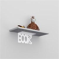 Decormet Book Raf ve Kitaplık Seti Beyaz - P.Beyaz
