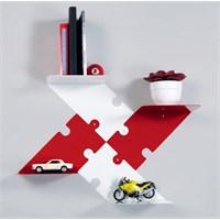 Decormet Puzzle Raf Seti 2 Sağ-2 Sol Tkmı Kırmızı - Beyaz