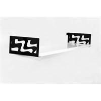 Decormet Dalga Raf ve Kitaplık Seti 20X60 Siyah-P.Beyaz