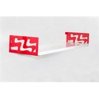 Decormet Dalga Raf ve Kitaplık Seti 20X60 Kırmızı-P.Beyaz