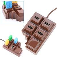 Çikolata Tasarımlı Usb Çoğaltıcı 4 Port Usb 2.0 Hub
