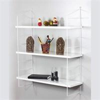 Decormet Seramoni Raf ve Kitaplık Seti 3 Raflı Beyaz-Beyaz