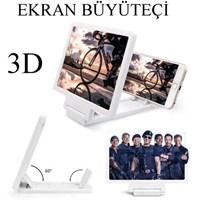 Markacase Telefon Ekran Büyüteçi 3D Sinema Keyfi Beyaz