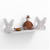 Decormet Kelebek Raf ve Kitaplık Seti 20X 60 Beyaz - P.Beyaz