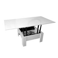 Konseptstand Akıllı Sehpa (80X80): Orta Sehpa Ve Çalışma Masası Ve Yemek Masası Plc 855 Beyaz