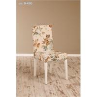 Helen Demonte Sandalye Beyaz-Gül D-420