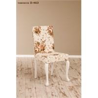 Simay Demonte Sandalye Beyaz-Tomurcuk D-465