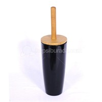 Siyah Melamin Bambu Tuvalet Fırçası