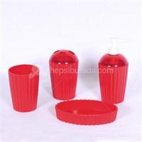 Bosphorus Kırmızı Melamin Banyo Set