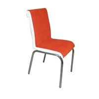 Mavi Mobilya Sandalye Kiremit Kumaş (4 Adet)