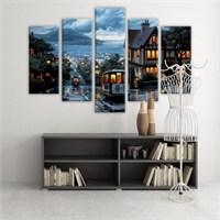 Dekoratif 5 Parçalı Kanvas Tablo-5K-Hb061015-21