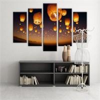 Dekoratif 5 Parçalı Kanvas Tablo-5K-Hb061015-26