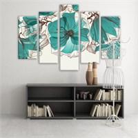 Dekoratif 5 Parçalı Kanvas Tablo-5K-Hb061015-64
