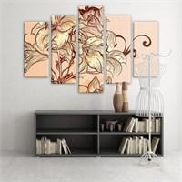 Dekoratif 5 Parçalı Kanvas Tablo-5K-Hb061015-65