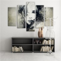 Dekoratif 5 Parçalı Kanvas Tablo-5K-Hb061015-110