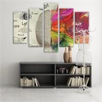 Dekoratif 5 Parçalı Kanvas Tablo-5K-Hb061015-131
