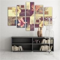 Dekoratif 5 Parçalı Kanvas Tablo-5K-Hb061015-135