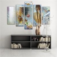 Dekoratif 5 Parçalı Kanvas Tablo-5K-Hb061015-139
