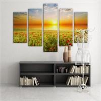 Dekoratif 5 Parçalı Kanvas Tablo-5K-Hb061015-210