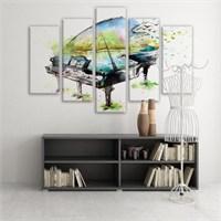Dekoratif 5 Parçalı Kanvas Tablo-5K-Hb061015-220