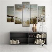 Dekoratif 5 Parçalı Kanvas Tablo-5K-Hb061015-224