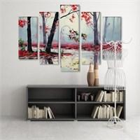 Dekoratif 5 Parçalı Kanvas Tablo-5K-Hb061015-308