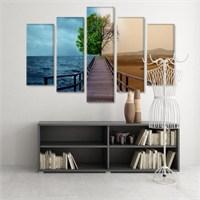 Dekoratif 5 Parçalı Kanvas Tablo-5K-Hb061015-309