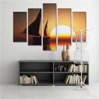 Dekoratif 5 Parçalı Kanvas Tablo-5K-Hb061015-310