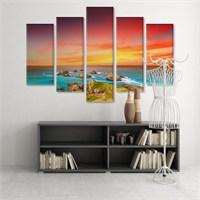 Dekoratif 5 Parçalı Kanvas Tablo-5K-Hb061015-327