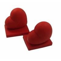 Carla Mara Kalp Kitap Tutucu Kırmızı
