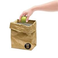 Luckies Brown Paper Bag - Yemek Çantası - İzolasyonlu, Suya Ve Yırtılmaya Karşı Dayanıklı Çanta