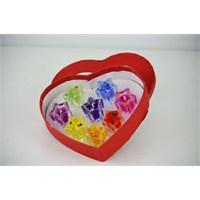 Cosiness Kalp Kutulu Renkli Yıldız Jel Mum 8 Li