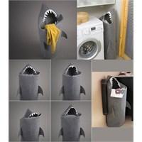 Jawshark Köpek Balığı Figürlü Çamaşır Sepeti