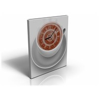 Arte80 - A Glass Of Coffee - Kanvas Tablo Saat