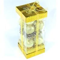 Artte Yılbaşı Ağaç Süsü Lüx 20 Parça Karışık Gold Set Orta Boy