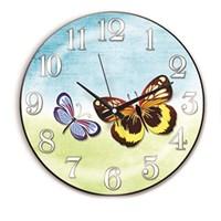 Time Gold Sera Duvar Saati Kelebek