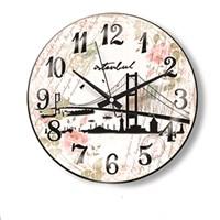 Time Gold Sera Duvar Saati Boğaz Köprüsü