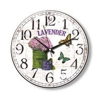Time Gold Side Duvar Saati Lavender