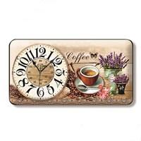Time Gold Sardunya Duvar Saati Kahve Çiçek