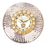 Time Gold Dekor Ayna Saat (Ayetli)