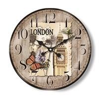 Time Gold Royal Color Duvar Saati London