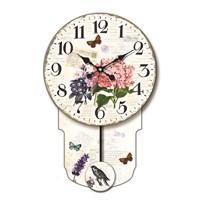 Time Gold Sarkaç Duvar Saati Kelebek Çiçek