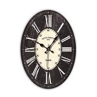 Time Gold Mdf Roma Rakamlı Duvar Saati Siyah