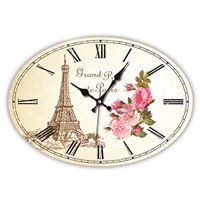 Time Gold Mdf Roma Rakamlı Duvar Saati Paris