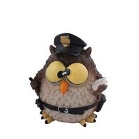 Baykuş Polis Figürlü Biblo