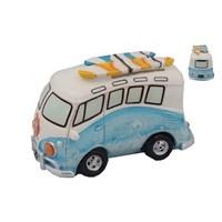 Mavi Minibüs Figürlü Kumbara
