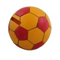 Sarı Kırmızı Futbol Topu Figürlü Kumbara