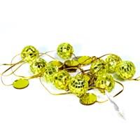 Artte Gold 2 Metre Zincirli Disko Topu Yılbaşı Süsü